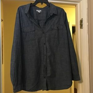 Old Navy Button Down Jean Shirt
